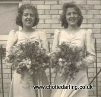 Beryl and Barbara (Chotie) at Betty's wedding, Chotie Darling weblog