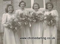 Bridesmaids at Betty's wedding, Chotie on the left, Chotie Darling weblog