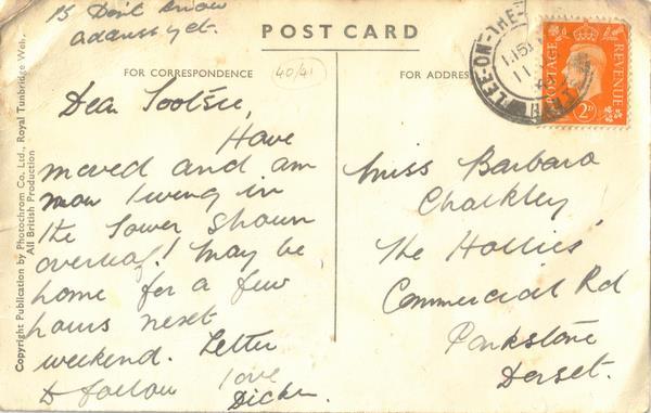Postcard January 1941
