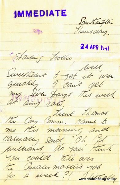 24th April 1941 page 1