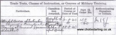 Dick PT Instructor qualification