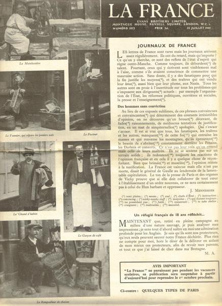 La France 23rd July 1941