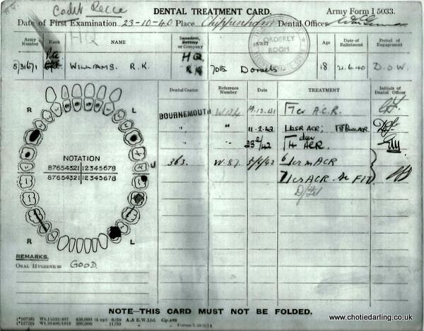 Dental record Dec 41