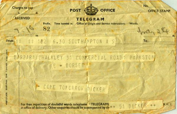 Telegram 24th May 1941