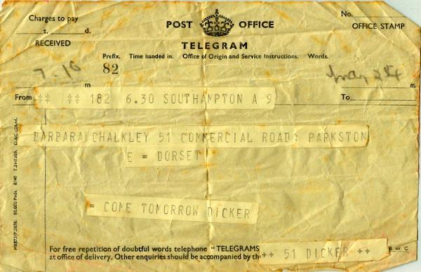 Telegram 24th May 1941