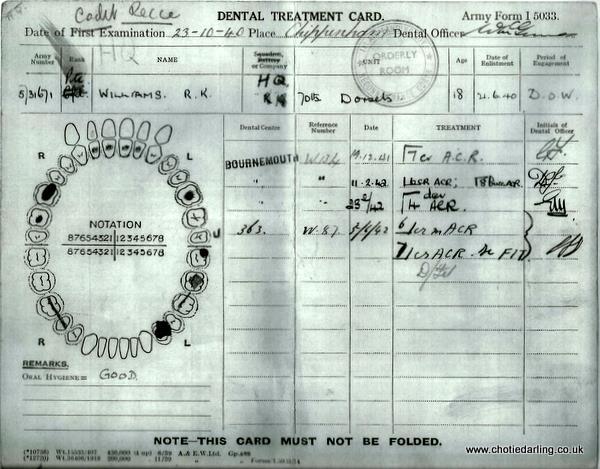 Dental record Dec 41