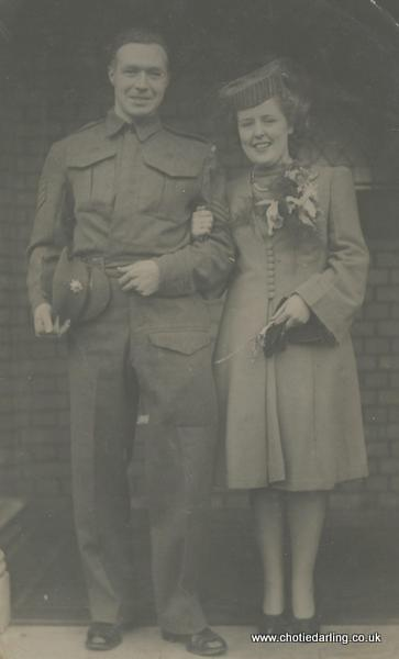 Ted and Margaret - their wedding