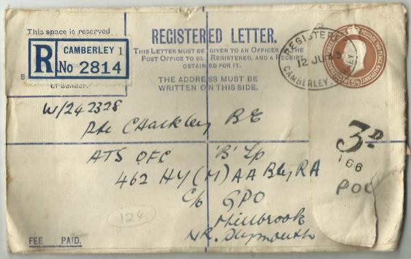 Registered Post envelope June 43