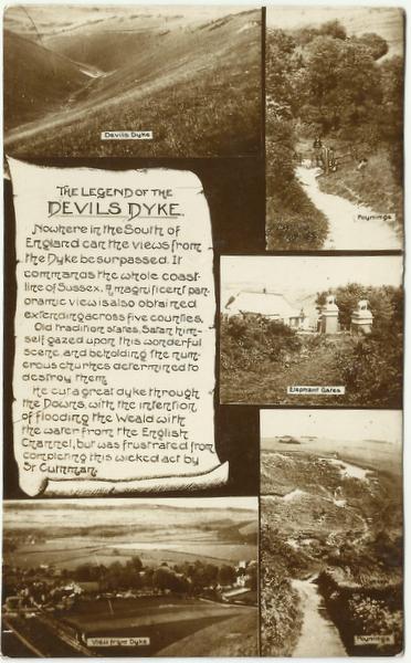 Devil'd Dyke postcard front