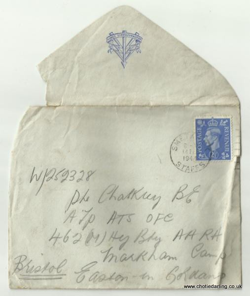 Envelope with Recce Corps badge