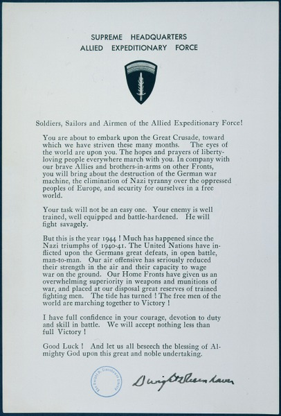 D-Day_Statement_to_Soldiers,_Sailors,_and_Airmen_of_the_Allied_Expeditionary_Force_-_NARA_-_186473