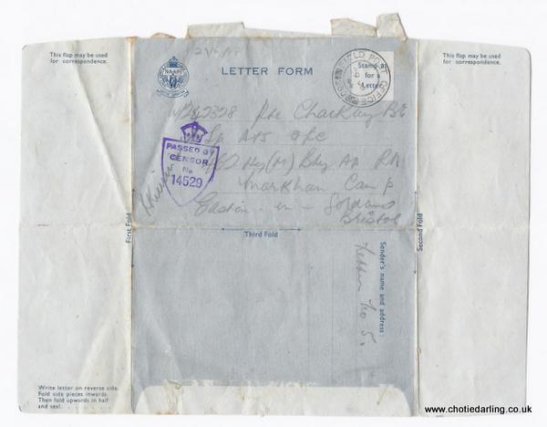 Letter form front 29th June