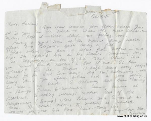 Letter form back 29th June