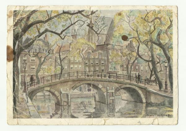 Postcard of bridge written 18th Oct 44 front