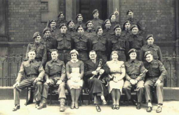 Sandy Handley front left in 52nd Lowland Recce