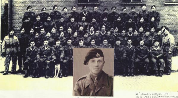 Sandy Handley & C Squadron 52nd Recce winter 45-46