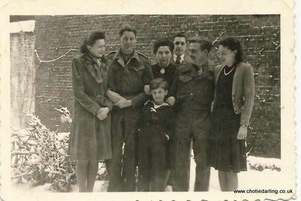 End of Jan '45 X Ronnie, Madame Sintobin, Jan, Edmond, Dick & Suzanne