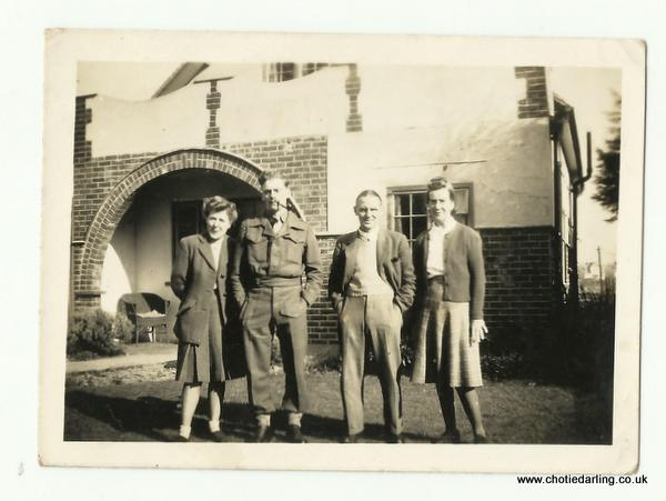 Chotie,Dick, Pa & Ma Williams 8th March 1945