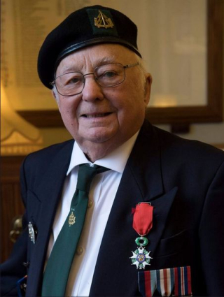 Tony Rampling with the Legion d'Honneur medal