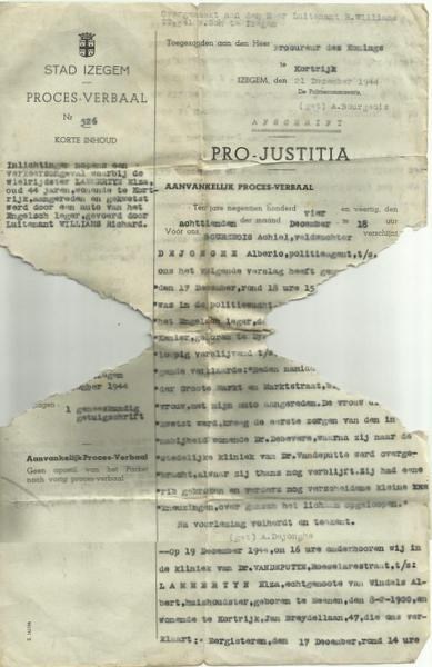 Izegem police document