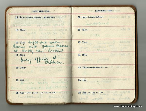 Dick's diary mid January 1945