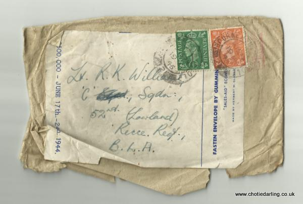 Envelope for Chotie's letter of 18th March 1945