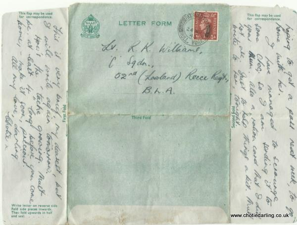 Letter form from Chotie 23rd March 1945