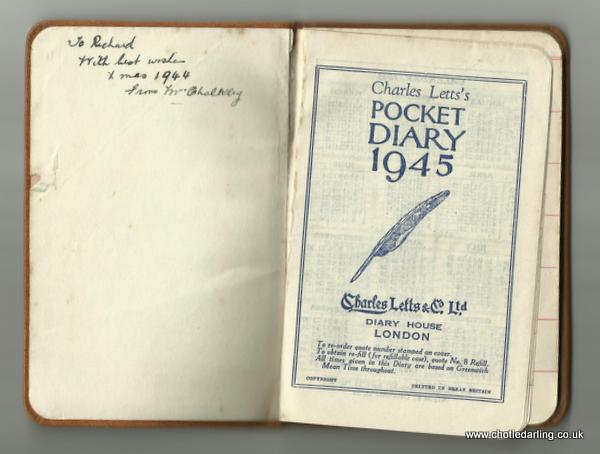 1945 diary from Mrs Chalkley