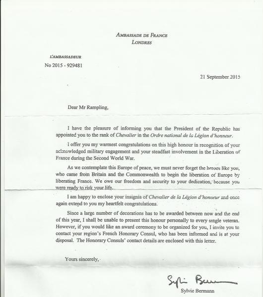 Anthony Rampling's Legion d'honneur