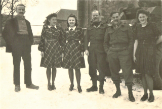 Honnay  Belgium 31st December 1944 Esther  Lucienne  Lt. Eric Macey  Lt. Dick Williams  Victorine (2)