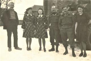 Honnay  Belgium 31st December 1944 Esther  Lucienne  Lt. Eric Macey  Lt. Dick Williams  Victorine (2)
